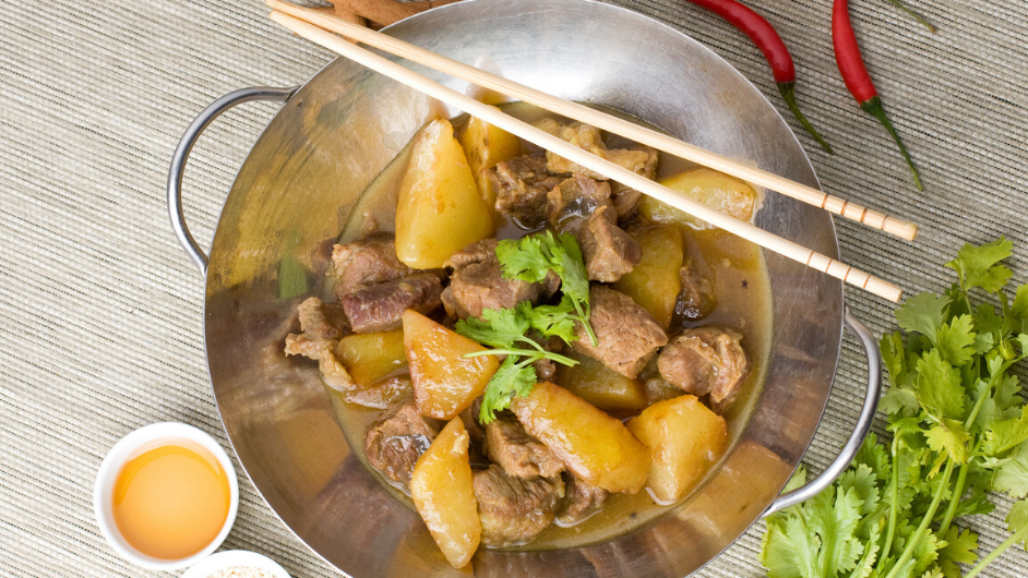 Lamb and apple curry